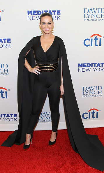 November 4: She looks like money! Katy Perry, aka the highest paid female performer, showed a lot of glam at the Change Begins Within David Lynch Foundation benefit concert in New York City. 