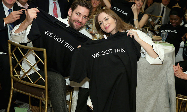 November 2: The couple that cooks together! Emily Blunt and John Krasinski hammed it up in the kitchen at the Family Reach's Cooking Live From New York event. 