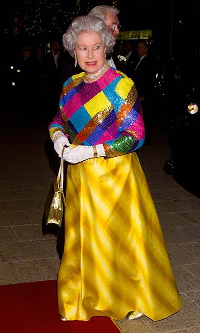 "Famous for wearing colorful clothing, the Queen once remarked: ""I can't wear beige because people won't know who I am."" <br>