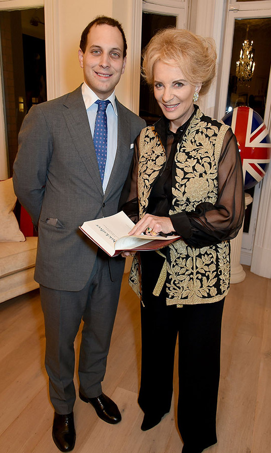 Princess Michael of Kent and her son Lord Frederick Windsor at the book launch of her latest novel 'Quicksilver' in London. <br>Photo: Getty Images