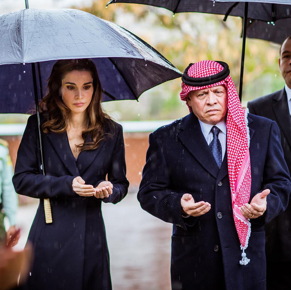 Queen Rania and King Abdullah took a quiet moment to pay tribute to victims as they reflected on the 10th anniversary of the Amman bombings. <br>Photo: Instagram/@queenrania