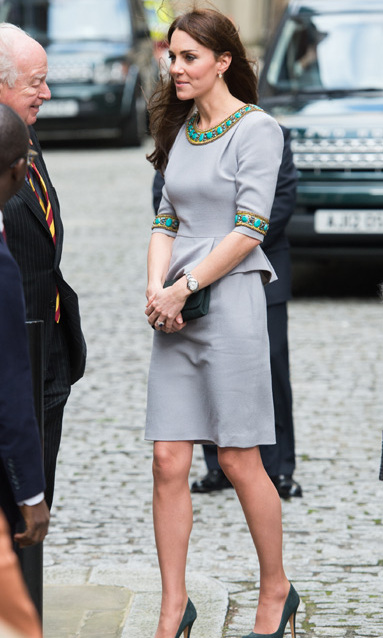 Kate rewore on of her favorite Matthew Williamson dresses to attend the Place2B headteacher conference.