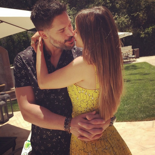 "Joe and Sofia celebrated one year together in June. The 'Modern Family' star captioned the photo, ""Happy 1st Anniversary love of my life!!!  Never been so happy!!#lucky❤️❤️❤️❤️@joemanganiello.""