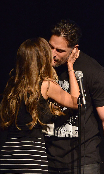 Sofia gave her man a big kiss at the Film Independent at LACMA Live Read of 'Major League.'  