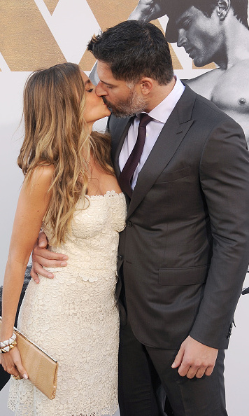 Extra large kisses at the Los Angeles world premiere of 'Magic Mike XXL.'  