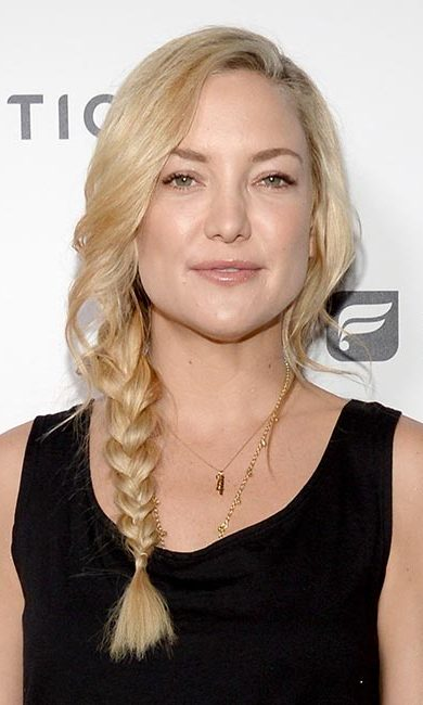 If you haven't got time for a complicated up-do, try Kate Hudson's side braid – one of our faves for heading to a party straight after work!