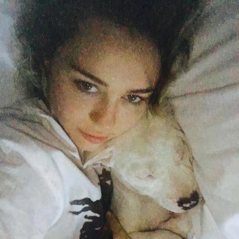 "Miley Cyrus recently adopted puppy Milky, who she has described as ""my entire life"" in a sweet social media post.