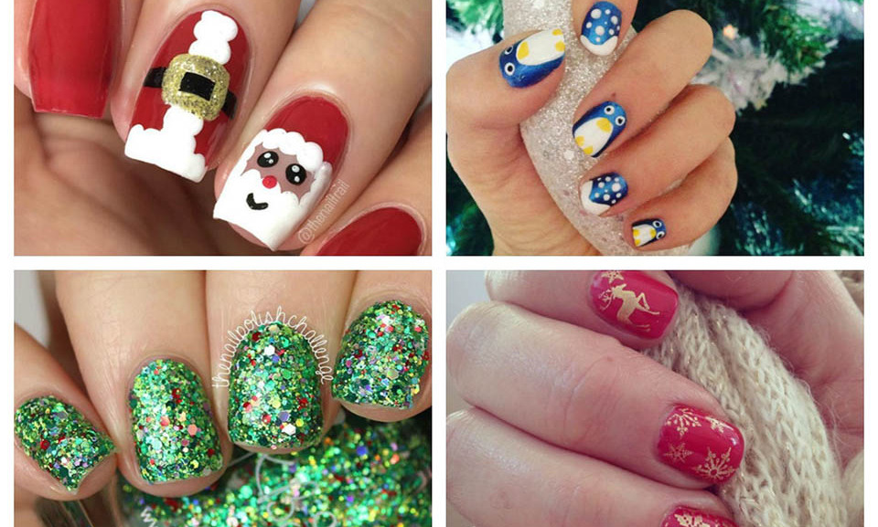 Nail art can be a simple and striking way to get in the Christmas spirit!  Whether you want to make a statement at holiday parties or try a new look to match your wrapping paper, there is a nail design for every occasion. 