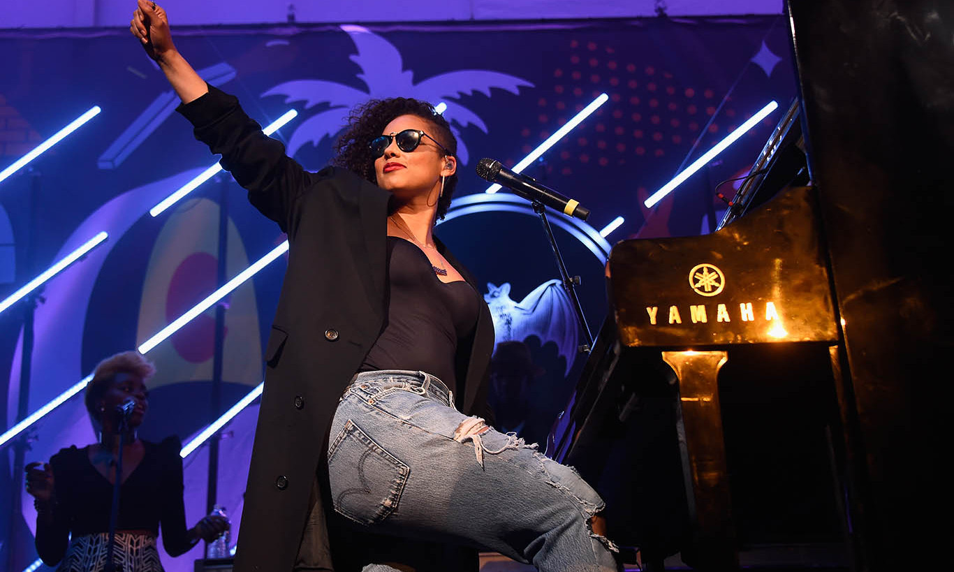 December 3: Girl on Fire! Alicia Keys performed at the Dean Collection X Bacardi 'Untameable' House Party at Art Basel in Miami.
