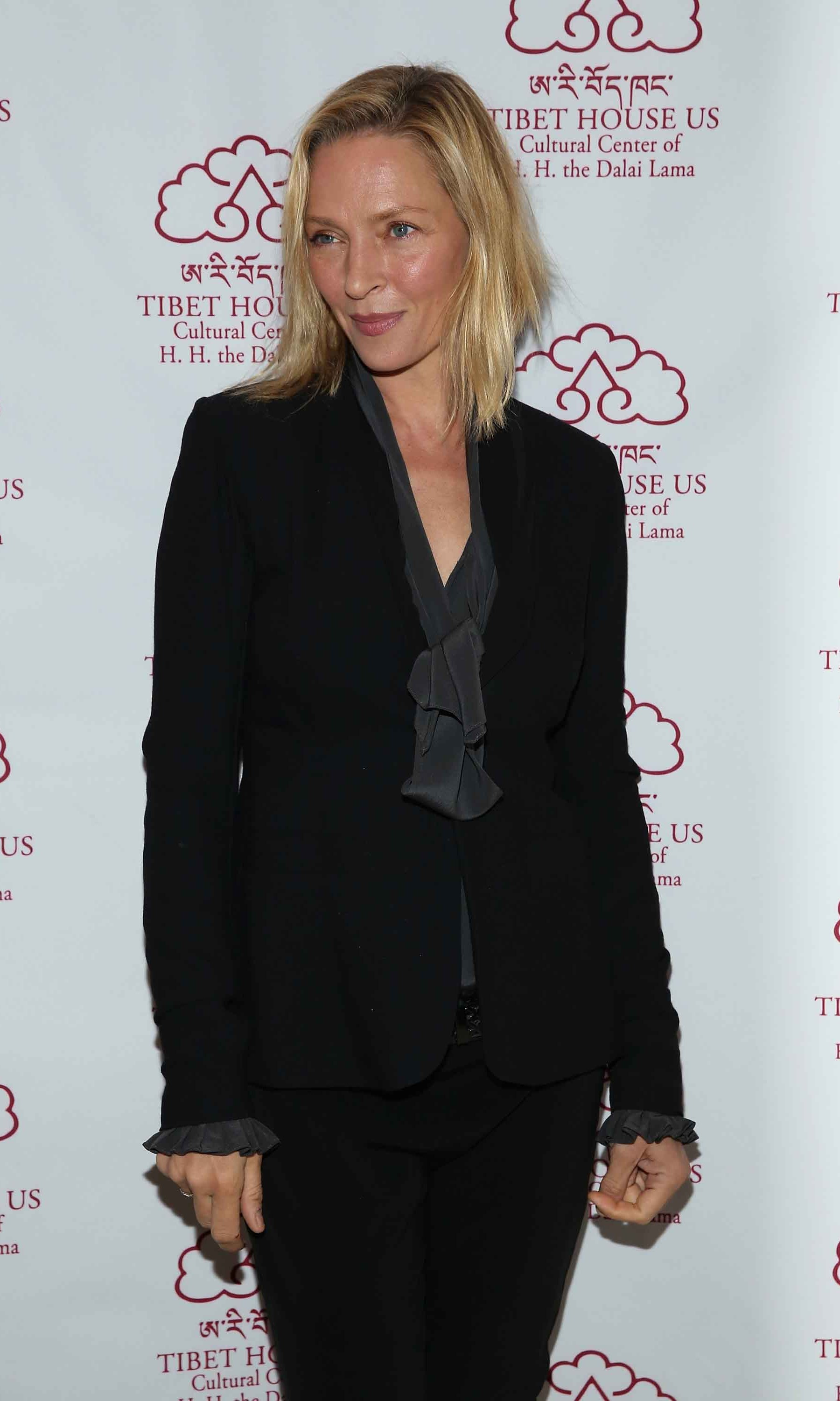 December 3: Uma Thurman attended The 13th Annual Tibet House US Benefit Auction at Christie's auction house in New York City. 