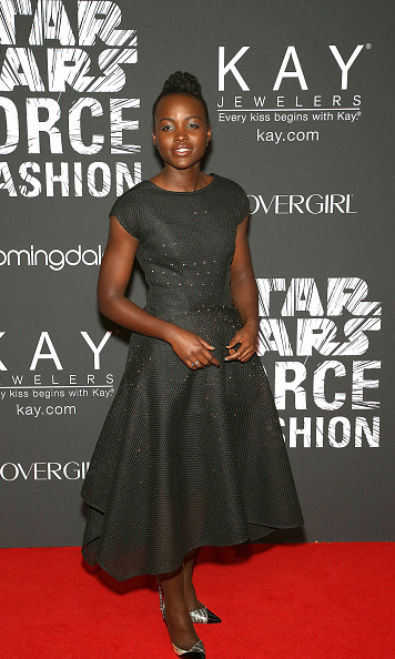 December 2: Out of this world! Lupita Nyong'o wore a one of a kind Zac Posen x Google Made with Code dress to the 'Star Wars' Force for Fashion party in New York City.