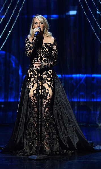 December 2: Carrie Underwood performed during the taping of the Sinatra 100: All-Star Grammy concert at the Wynn hotel in Las Vegas.