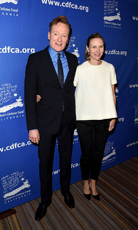 December 3: Conan O'Brien and Liza Powel attended Children's Defense Fund-California 25th Annual 'Beat the Odds' awards at Regent Beverly Wilshire Hotel in Beverly Hills.