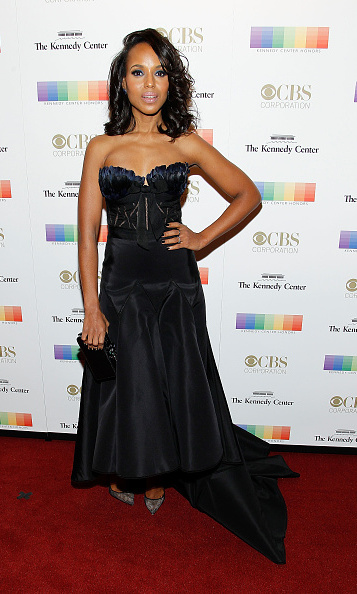 December 6: Kerry Washington spent her weekend in the nation's capital as she attended the Kennedy Center Honors gala in Marchesa.