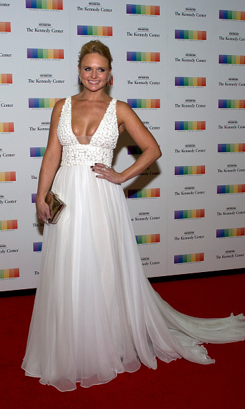 December 5: Miranda Lambert was angelic in white at the Kennedy Center Honors formal artist's dinner in Washington D.C. 
