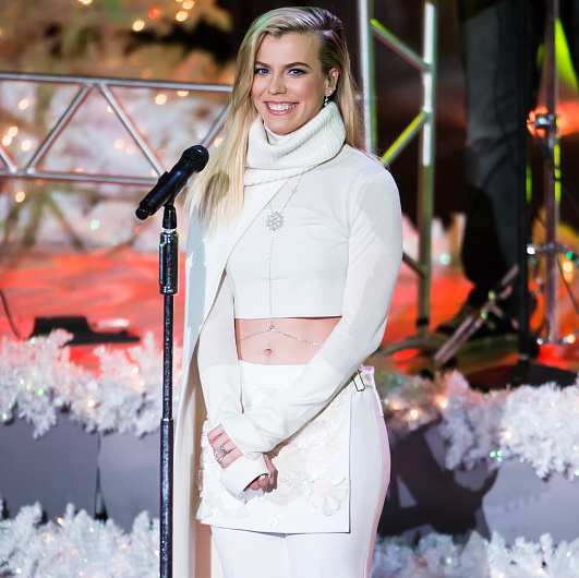 December 2: Kimberly Perry of The Band Perry performed with her brothers during the Rockefeller Center Tree Lighting.
