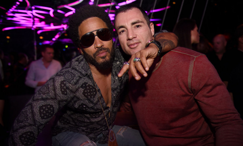 November 30: Lenny Kravitz celebrated the opening of new Miami hot spot Rockwell with Chris Paciello and Dom Perignon.