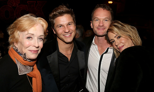 Neil Patrick Harris and David Burtka cuddled up to Sarah Paulson and girlfriend Holland Taylor at the 'School of Rock' Broadway play opening in NYC.