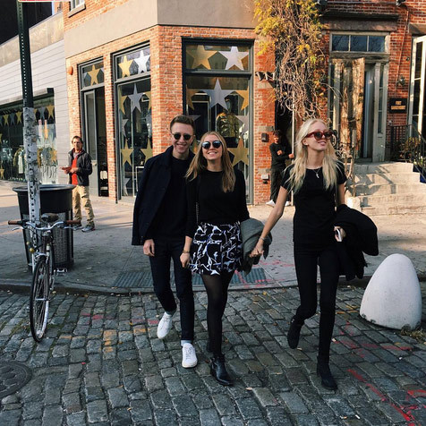 "Princess Olympia of Greece, right, took to the Meat Packing District of New York with her pals to enjoy the amazing weather: ""It's December and I'm in a t-shirt....,"" she said. 