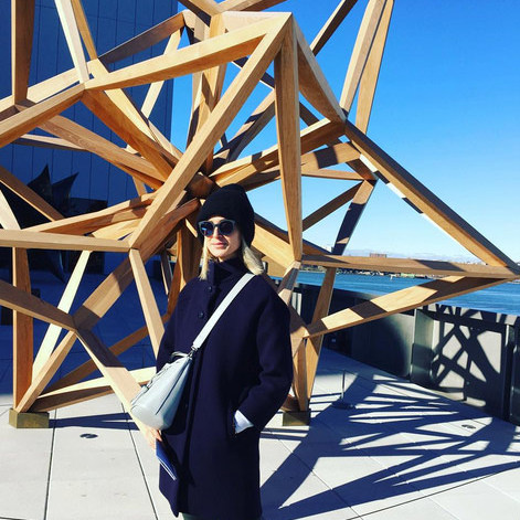 "Princess Elizabeth Von Thurn Und Taxis had a cultural experience in New York: ""A morning of art is a morning of luxury @whitneymuseum #frankstella #rachelrose.""