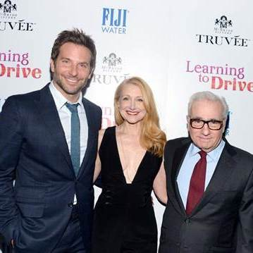 December 15: Three certainly isn't a crowd with this bunch. Bradley Cooper, Patricia Clarkson, and Martin Scorsese attended the celebration of 'Learning to Drive' presented by the Cinema Society and Truvée Wines in NYC.