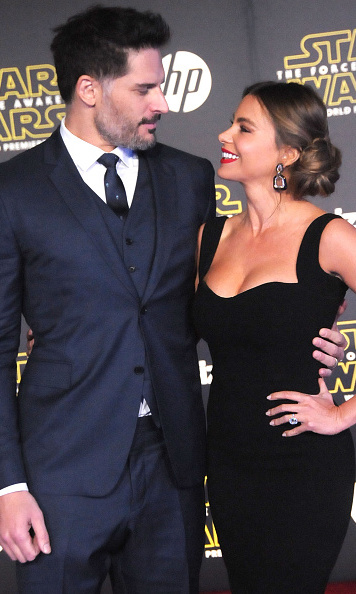 December 14: Marriage looks good on these two! Joe Manganiello and Sofia Vergara walked the carpet for the first time as husband and wife at the L.A. premiere of 'Star Wars: The Force Awakens.'