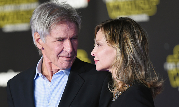 December 14: Harrison Ford only had eyes for his leading lady, Calista Flockhart, at the premiere of his latest 'Star Wars' film, 'The Force Awakens.'