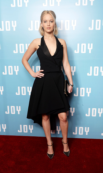 December 17: Jennifer Lawrence stunned in a plunging Dior dress at a special screening for her new Golden Globe nominated film 'Joy' held at Ham Yard Hotel in London.