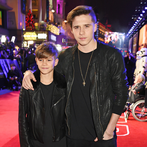 December 16: It was boys night out for the Beckham brothers! Romeo and Brooklyn attended the London premiere of 'Star Wars: The Force Awakens.'