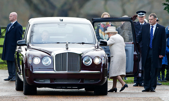 Receiving a salute as she got into her car, the Queen makes her departure, wrapping up the memorable holiday weekend. 