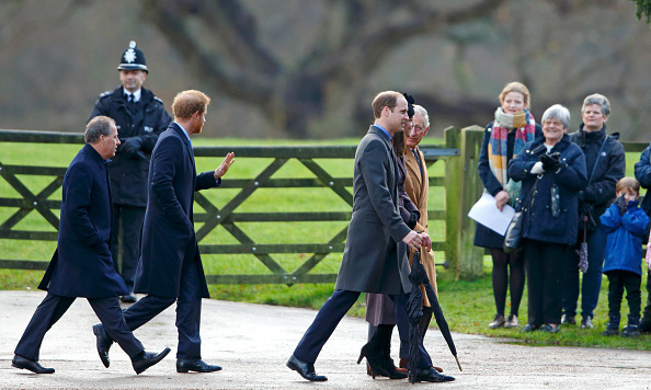 For Sunday's church service on December 27, several members of the British royal family walked, while 89-year-old Queen Elizabeth elected to take her car.