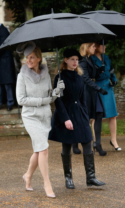 A cheerful Sophie, Countess of Wessex and her adorable 12-year-old daughter Lady Louise.