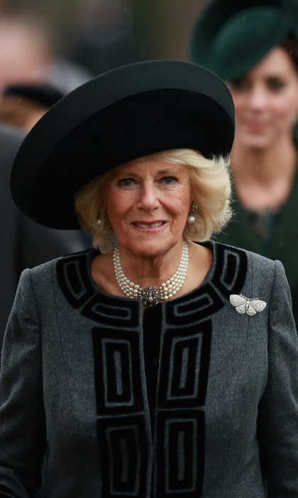 The Duchess of Cornwall was the picture of elegance as she arrived walking alongside her husband Prince Charles.