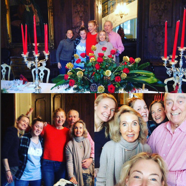 German princess Lilly Wittgenstein posted lots of family holiday pics this week, declaring: 'Decoration Team for our mad family Christmas!!!' 