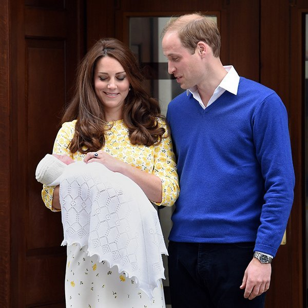 The new father couldn't keep his eyes off his newborn daughter, Princess Charlotte, when he and Kate introduced her to the world.
