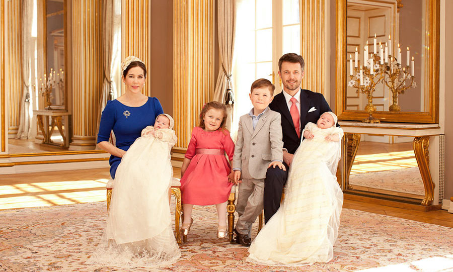 "The royal duo posed with their parents and siblings <a href=""http://us.hellomagazine.com/tags/1/prince-christian/""><strong>Prince Christian</strong></a> and <a href=""http://us.hellomagazine.com/tags/1/princess-isabella/""><strong>Princess Isabella</strong></a> during the christening.