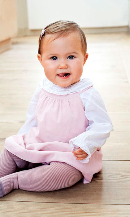 Princess Josephine celebrated her first birthday in pink.