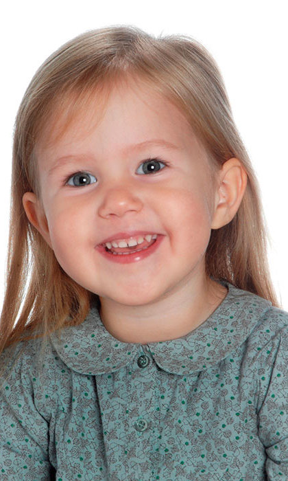 Princess Josephine showed off her third birthday smile for the camera. 