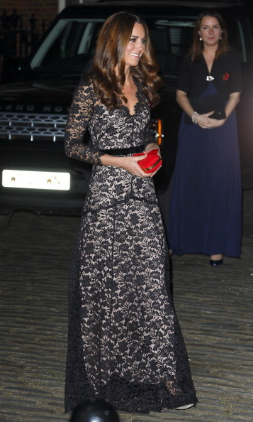 The stylish royal stunned in a Temperley London black lace gown, while attending a gala dinner in support of St. Andrews 600th Anniversary Campaign.