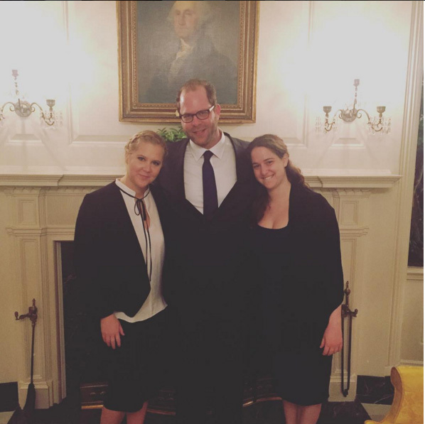January 5: #StopGunViolence! Amy Schumer and her siblings took a trip to the White House to support President Obama's new gun control laws. 