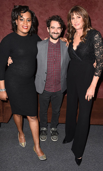 "January 5: Caitlyn Jenner hosted a special screening of ""Tangerine,' where she posed with the stars Mya Taylor and Jay Duplass in L.A.. 