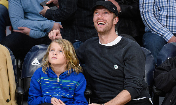 January 6: Boys' night out! Chris Martin and his son Moses spent some quality time courtside at a Los Angeles Lakers game.