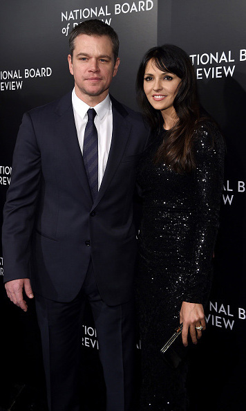 January 5: Matt Damon and his wife Luciana Barroso attended the National Board of Review gala in NYC.
