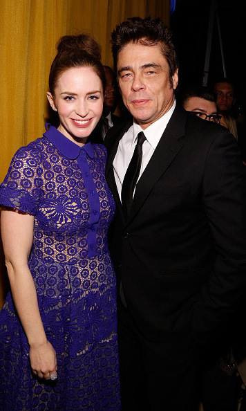 January 5: Emily Blunt and Benicio del Toro stopped for a quick photo during the National Board of Review gala in New York City. 