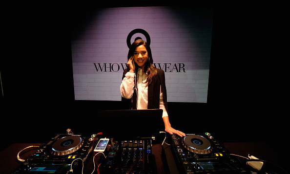 January 27: DJ with style! Hannah Bronfman turned up the music inside of Target and Who What Wear's apparel and accessories collection launch event in NYC.