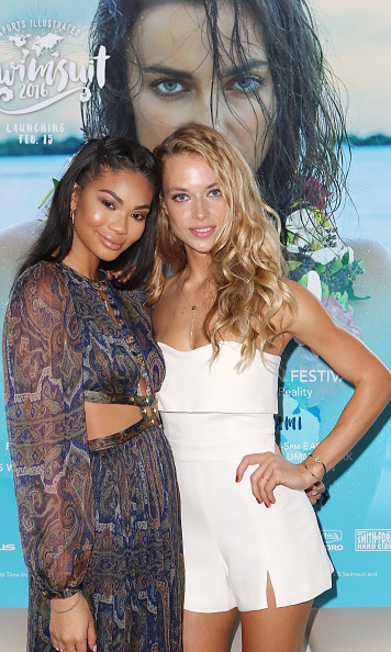 January 27: Miami heat! Sports Illustrated models Hannah Ferguson and Chanel Iman stunned during the announcement of SI Swimsuit 2016 Launch Week Events at the 1 Hotel South Beach in Miami. 