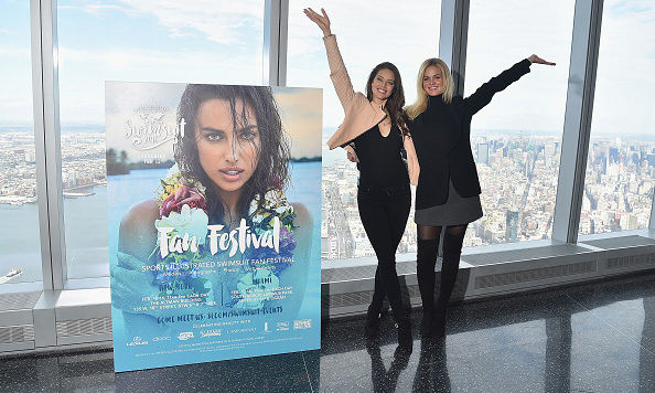 January 27: From the top of the city! SI Swimsuit models 
