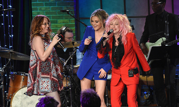 "January 28: Girls do have fun! Ingrid Michaelson, Kelsea Ballerini and Cyndi Lauper performed at Skyville Live presents ""Girls Just Wanna Have Fun"" with Cyndi Lauper in Nashville.