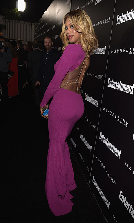 January 29: Flawless beauty! Laverne Cox attended the Entertainment Weekly and Maybelline New York SAG Award nominees party at Chateau Marmont in West Hollywood. 