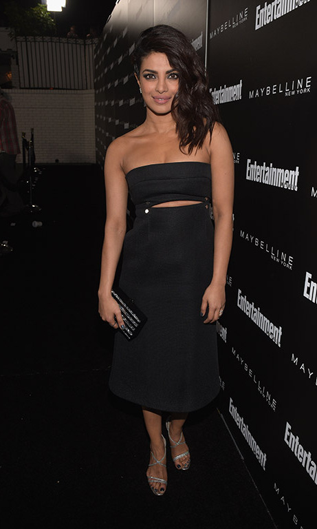 January 29:Priyanka Chopra stunned during the Entertainment Weekly and Maybelline New York SAG Award nominees party at Chateau Marmont in West Hollywood. 